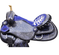 Barrel racing sadel i syntet- Cobra- Limited Edition